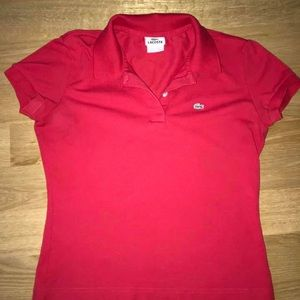 Lacoste women's red polo. Size 42